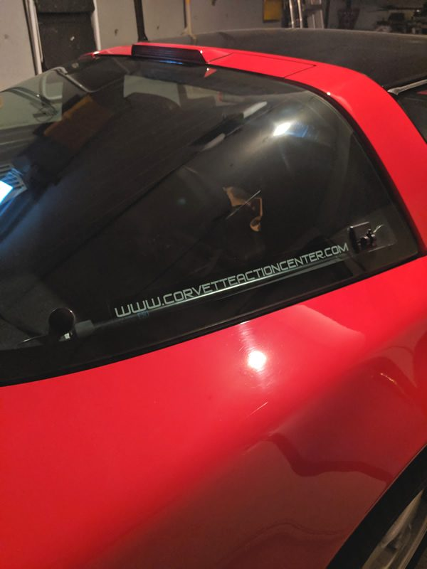 Corvette Action Center Static Cling Decals