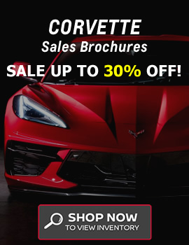 Corvette Sales Brochure Sale
