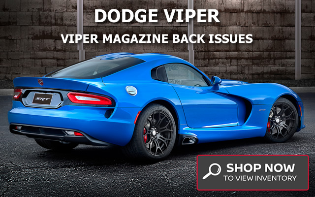 Dodge Viper Quarterly Magazines