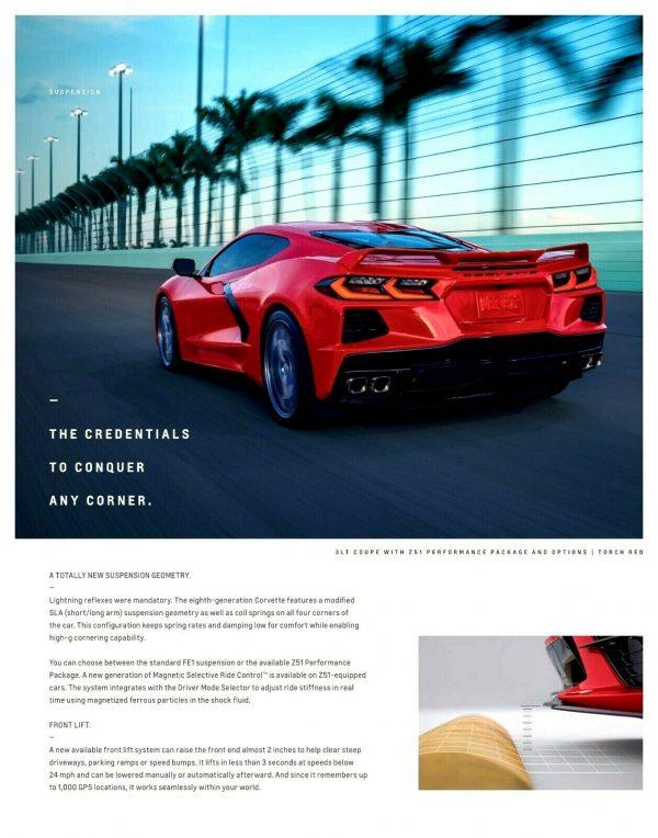2020 Corvette Sales Brochure